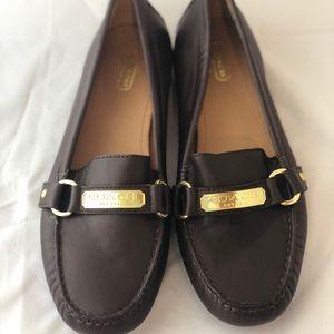 Coach Brown Felisha Jaquard Loafers size 9